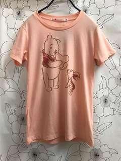 🚚 全新UNIQLO & Disney 聯名小熊維尼和小豬上衣 短袖