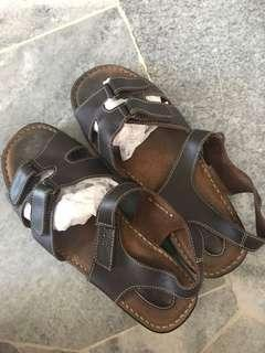 Scholl leather sandals