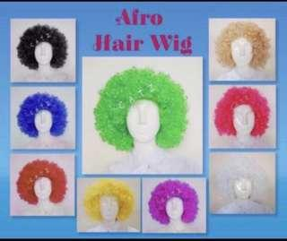 < ZHOELUX > Pom Pom Hair Wig Costume Party Curly Clown Hair Wig Afro Hair Wig Party Hair Wig