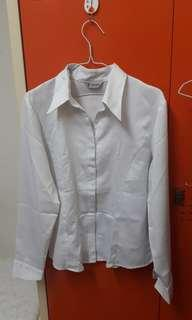 White Satin Formal Shirt