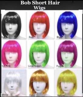 🚚 < ZHOELUX > Bob Hair Wig Bob Short Hair Wig Party Hair Wig Party Accessories Cosplay Wig