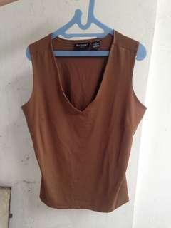 Brown outer top