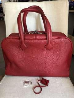 Hermes Victoria 35 red shoulder bag handbag