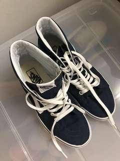 ORIGINAL (US) Vans SK8-HI sneakers MEN/WOMEN (Dark Blue)