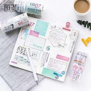 [PO] decorative japanese text washi tape roll
