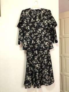 Floral Kurung AFIQ M FASHION VALET