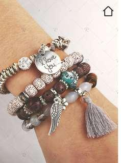 💍Bohemian wing beaded Bracelet set