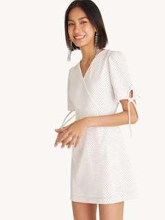 🚚 Pomelo Surplice Polka Dot Mini Dress in Size L #EndgameYourExcess