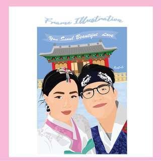 Frame Illustration | Theme Korea