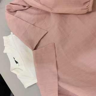🚚 全新購自韓國 正韓貨 露肩粉色上衣