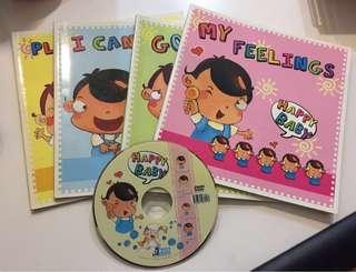 Happy Baby 英語學習套裝 4books + 1dvd