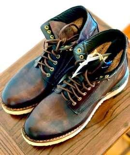 visvim I.C.T. virgil boots ICT mud dye dyed 泥染 grizzly brigadier