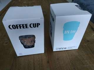 🚚 Coffee cup - glass with cork and lid (unbranded KeepCup)