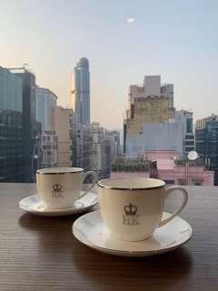 港英政府 皇冠HK 茶杯一套
