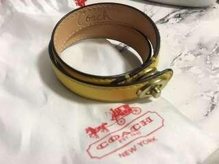 Coach 雙圈皮手環
