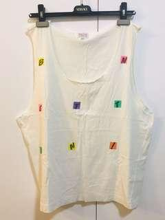 UNITED COLORS OF BENETTON SINGLET MADE IN ITALY AUTHENTIC