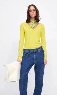 🚚 Zara Yellow Soft Touch Sweater