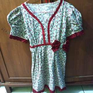 Dress bunga bordir