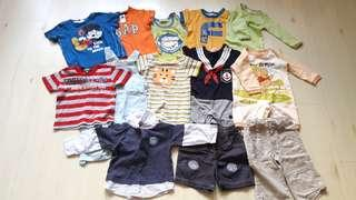 Bundle of 13 Preloved Baby Clothing (Fox Baby/Benetton/Carter's)(6-12M)