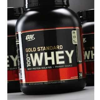 Optimum Nutrition Gold Standard 100% Whey 5LBS (Assorted Flavors)