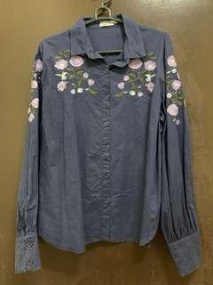 Zalia Embroidery Blouse