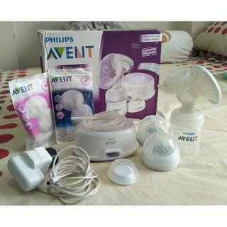 Philips Avent Electric Breast Pump (Single) + Steam Sterilizer 6 Botol