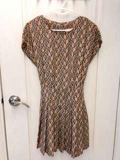 韓國印花連身裙