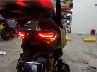 Yamaha Xmax BCD Style Tail Lamp and Signal Cover