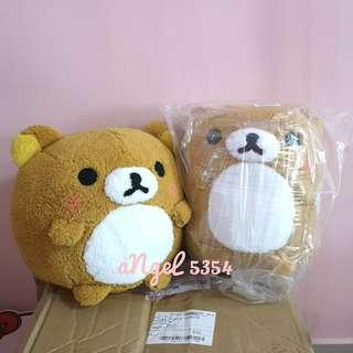 Japan SanX Round Warm Face RILAKKUMA Plushy Toy