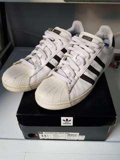 *Pre-Loved* 100% Authentic Men's Originals ADIDAS SUPERSTAR VULC ADV White Shoes