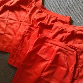 Orange skirt 4pcs rush sale used 3x only