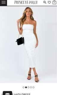 PRINCESS POLLY White Midi Dress