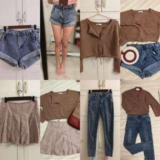 各式衣物(價錢、狀況不一歡迎參考💕)