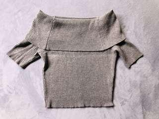 Must have! Little grey off shoulder crop top