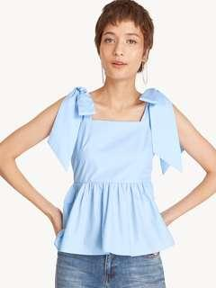 🚚 Pomelo Bow Tie Peplum Cropped Tank in Size L #EndgameYourExcess