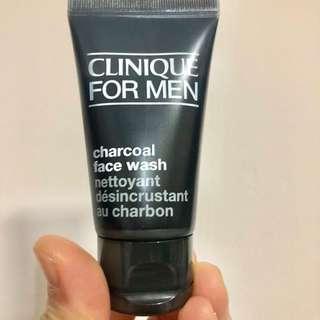 Clinique men charcoal face wash 30ml