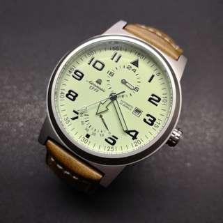 Aeromatic 德國飛機師腕錶 - A1350 (升級版 - 儲能夜光大飛)