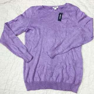Purple Knitted Top