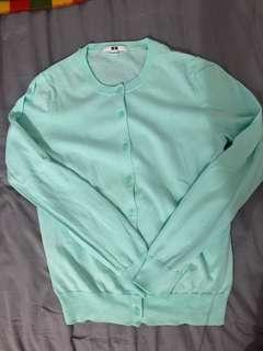 Uniqlo Mint Green Cardigan