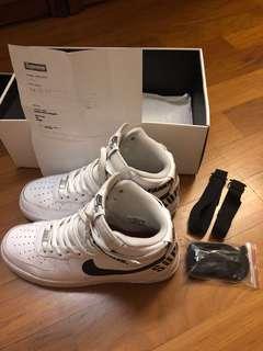 Nike supreme air force af1 hi white