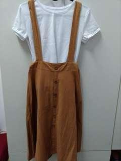 🚚 兩件式!棉麻吊帶裙