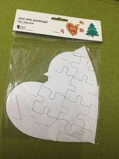 Heart and Tree Jigsaw for painting