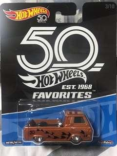 Hotwheels 50th Anni Favorites 60's Ford Econoline Pickup truck