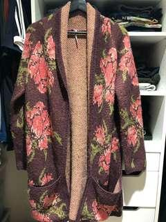 Free people floral cardigan size M