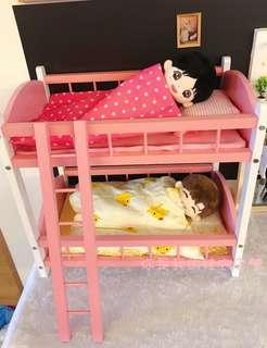 15cm20cm玩偶娃用單層床雙層床exo wanna one bts