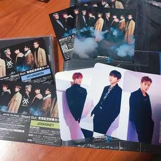 🚚 monsta x shoot out japanese albums joohoney changkyun shownu white pc hyungwon