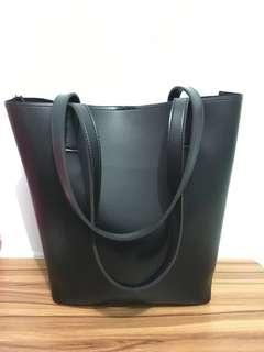 Ladies' Faux Leather Tote Bag