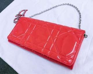 Dior漆皮皮夾