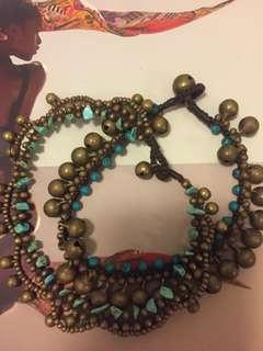 Turquoise/Bronze Anklet