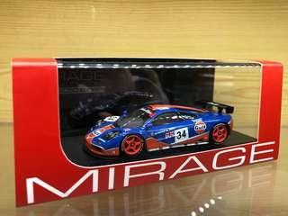 HPI Mirage 1/43 Mclaren F1 GTR 1996 Le Mans (#34) Gulf BMW M Power Michelin